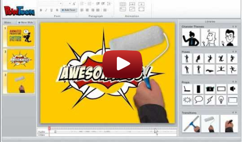 Online animated presentation maker